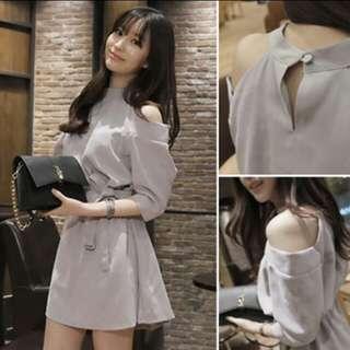 (instock) only 1 piece off shoulder formal dress