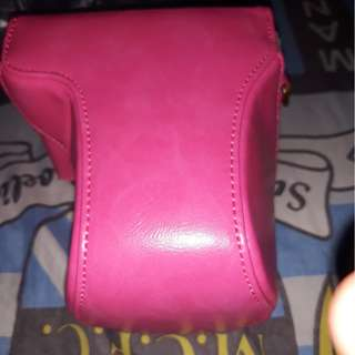 Case leather canon M10 pink