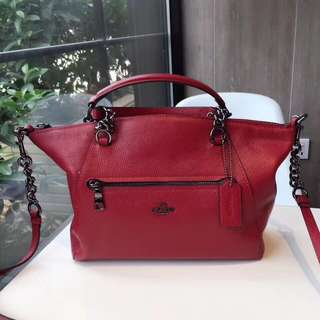 Coach Chain Prairie Satchel - Red