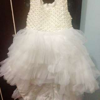 Baby Gown / White Dress 6-12mos.