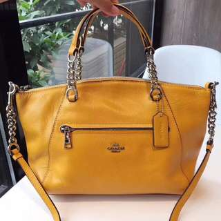 Coach Chain Prairie Satchel - Yellow