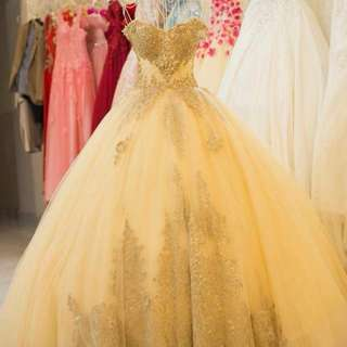 Custom made - Golden wedding dress