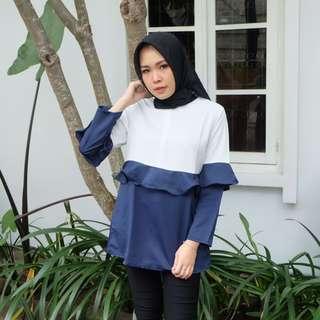 Blouse LD:96cm panjang baju: 76cm berat produk: 350 gram bahan: cotton rami