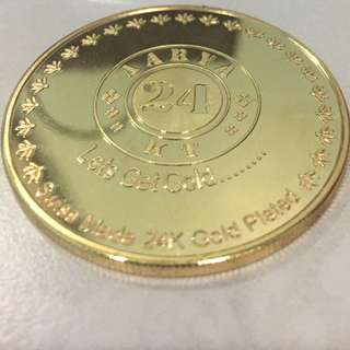 24 Karat Gold Plated Coin
