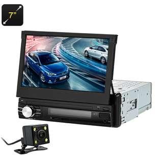 7 Inch Car Media Player - 1 DIN, Bluetooth, Hands Free, Rear Parking Camera, AM/FM Radio, USB, SD Card Slot (CVAIY-C580)