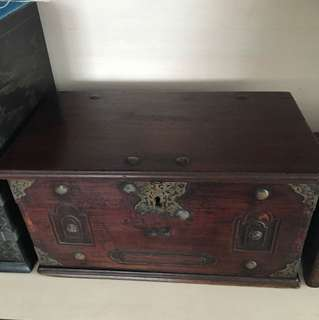 Antique teak box