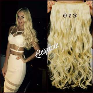 5 Clips Curly Hair Extensions Blonde 2 for $30