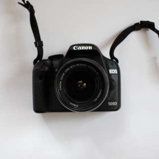 Camera Canon EOS 500D + Battery Grip