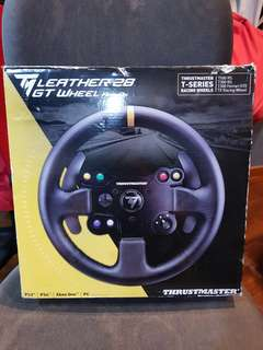 Steering wheel and driver seat with pedal