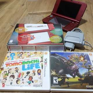 Nintendo new 3DS XL, Red