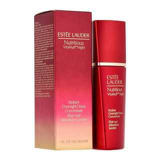 Estee Lauder Nutritious Vitality8 Night Radiant Overnight Detox Concentrate Elixir Nuit 30ml