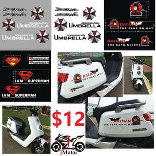 reflective sticker super hero sticker decal motorcycle motor bike