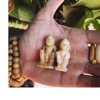 阿贊塔納空親製大象骨及大象大牙雕刻哈努曼