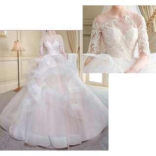 Ladies - Swan Ruffled Wedding Gown L1704