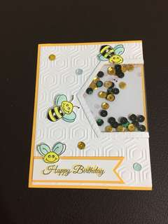 Birthday Card-Bees design