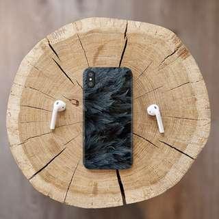 Dark Rustic Feather iPhone / Oppo Case Casing