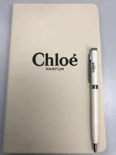 Chloé note book with pen