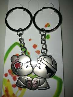 Couple wedding keychain