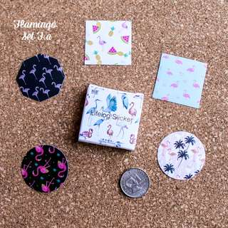 5pcs Flamingo Sticker Sample Set Fa