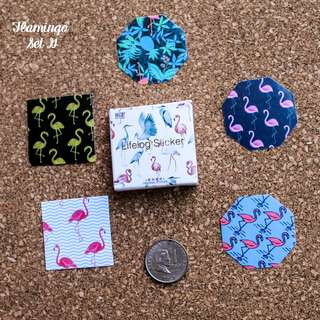5pcs Flamingo Sticker Sample Set G