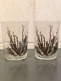 Zara 珊瑚杯一對