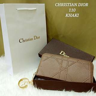 Dior Cannage Purse Khaki