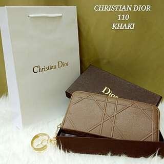 Dior Cannage Purse Khaki