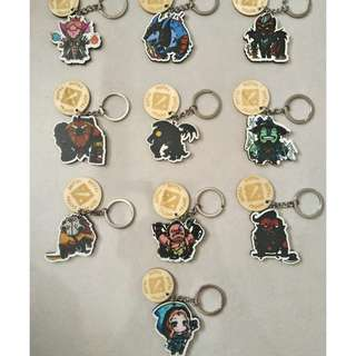 #MY1010 DotA 2 Wood Keychain (BUY 1 FREE 1)