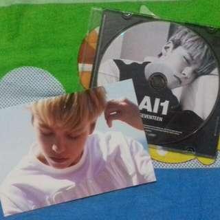 Seventeen Vernon Al1 postcard and CD plate