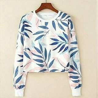 Leaf Crop Sweater