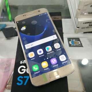 Samsung S7 Flat 32gb SEIN Gold super duper mulus full original garansi