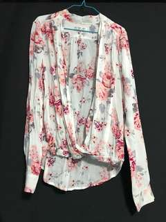 Floral Blouse Cotton On (white)
