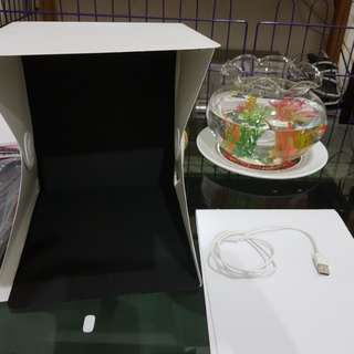 (REPRICE) Mini Photo Studio Magnetic dengan Lampu LED
