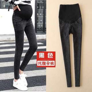 🌈Brand New Maternity Over The Belly Super Soft Stretch Skinny Jeans - Black Size L