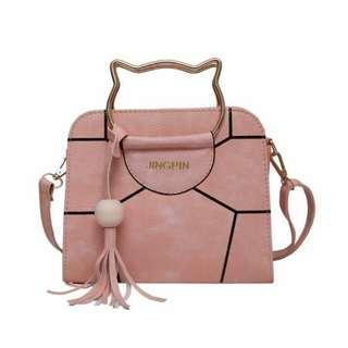 Sling handbag cat holder bag
