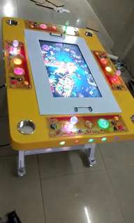 Fishing game arcade console (foldable). With 30 games as shown in pic