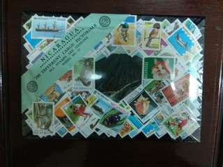 Nicaragua 100 different large pictorial stamps