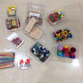Various craft supplies/