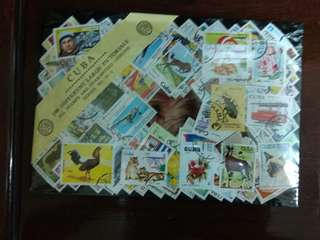 Cuba 100 different large pictorial stamp pack