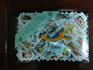 Cambodia 100 different large pictorial stamps