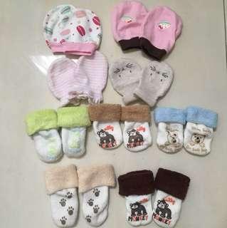 #MakinTebel Sarung tangan kaos kaki bayi