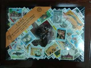 Laos 100 different large pictorial stamp pack