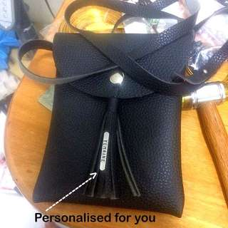Personalised Sling Bag (Faux Leather) [ Handy phone bag pouch Valentine day birthday new beginning graduation reward Christmas Raya gifts handmade uncle.anthony uncle anthony uac]  FOR MORE PHOTOS & DETAILS, GO HERE: 👉 http://carousell.com/p/114284390