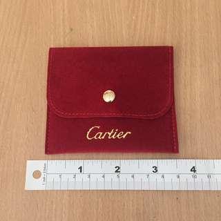 [全新] Cartier 卡地亞 紅色絲絨 手飾袋仔
