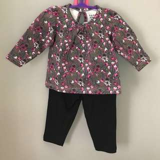 Baby top+bottom (9-12M) (12-18M)