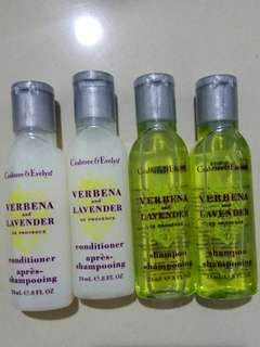 Crabtree & Everlyn verbena and lavender shampoo and conditioner