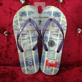 10% OFF Authentic CALVIN KLEIN Blue Flip Flops Size 7