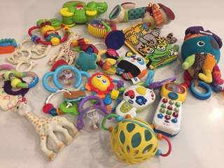 Baby toys , Vtech, Sophie, teething, soft toys, EVERYTHING For 25 only