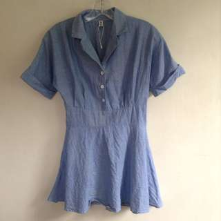 150 PESOS ONLY || 💖 Korean soft denim dress (BRAND NEW, NEVER BEEN WORN) 💖 Medium on tag, best fits small-medium frame 💖 150 pesos ONLY + SF/HF . . 🙂🙃 Bogus buyers, joy reservers, & those who cancel their order/s WILL BE POSTED 🙂🙃