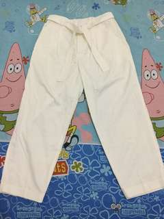 White Peg Trousers Drill